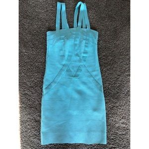 Bebe Baby Blue BodyCon Dress (WORN ONCE)